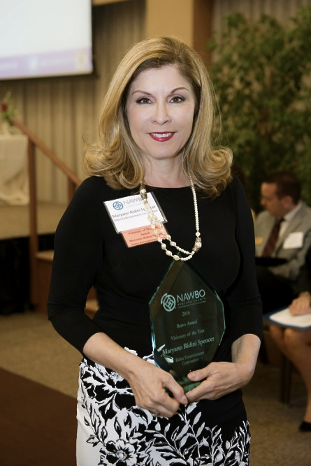 "Maryann Ridini Spencer Named ""Visionary of the Year"" by National Association of Women Business Owners (NAWBO)"